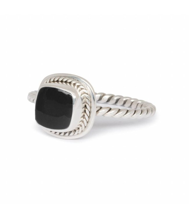Route508 Silver Black Onyx Ring Isabeau