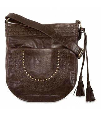 Route508 Brown Leather Crossbody Bag Zella