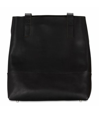Mahiya Leather Black Leather Shopper Eve