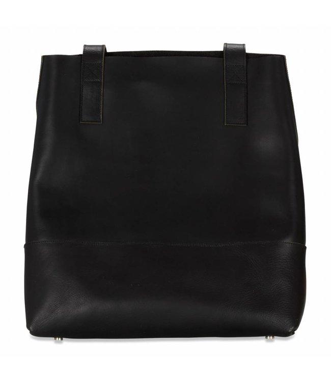 016e6e3baf7a Mahiya Leather Black Leather Shopper Eve - Route508
