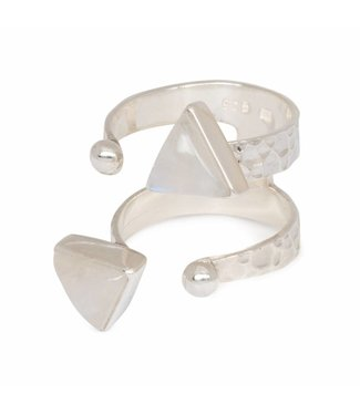 Route508 Silver Moonstone Ring Ryder