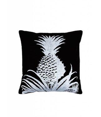 'Ananas' Zwart Wit Kussen ǀ 50x50