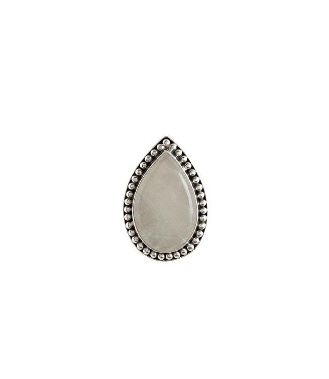 Route508 Sterling Silver Ring | Aurora | Rainbow Moonstone