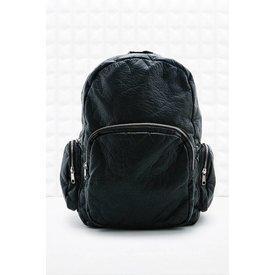 Jil Sander Black leather backpack