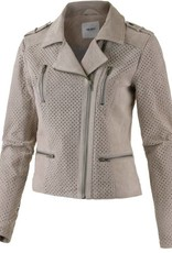 Object Stijlvolle leren jacket, grijs