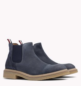 Tommy Hilfiger suède laarzen, blauw