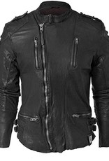 Tigha Harry leren jacket, zwart