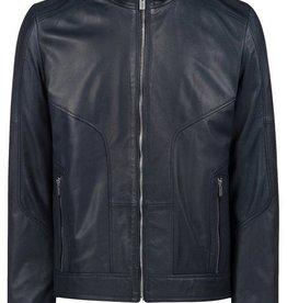 Hugo Boss Leren jas, blauw