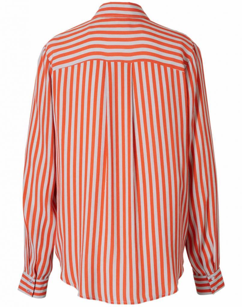 Saint Tropez dames blouse,  oranje