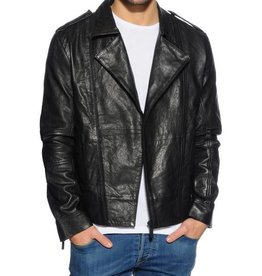 Calvin Klein Leon leren jas, zwart