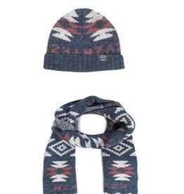 N-Z-A set sjaal + muts, blauw
