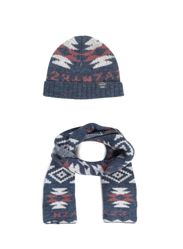 N-Z-A Oxus set sjaal + muts, blauw