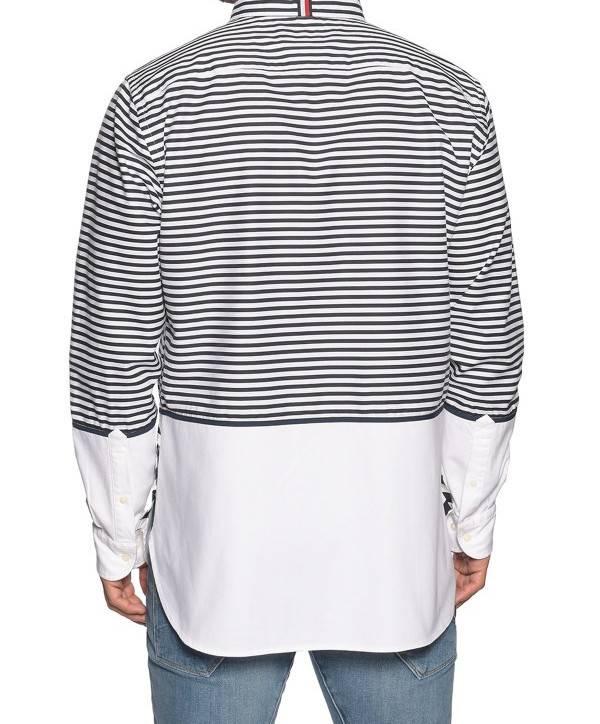 Tommy Hilfiger Heren overhemd, blauw/wit