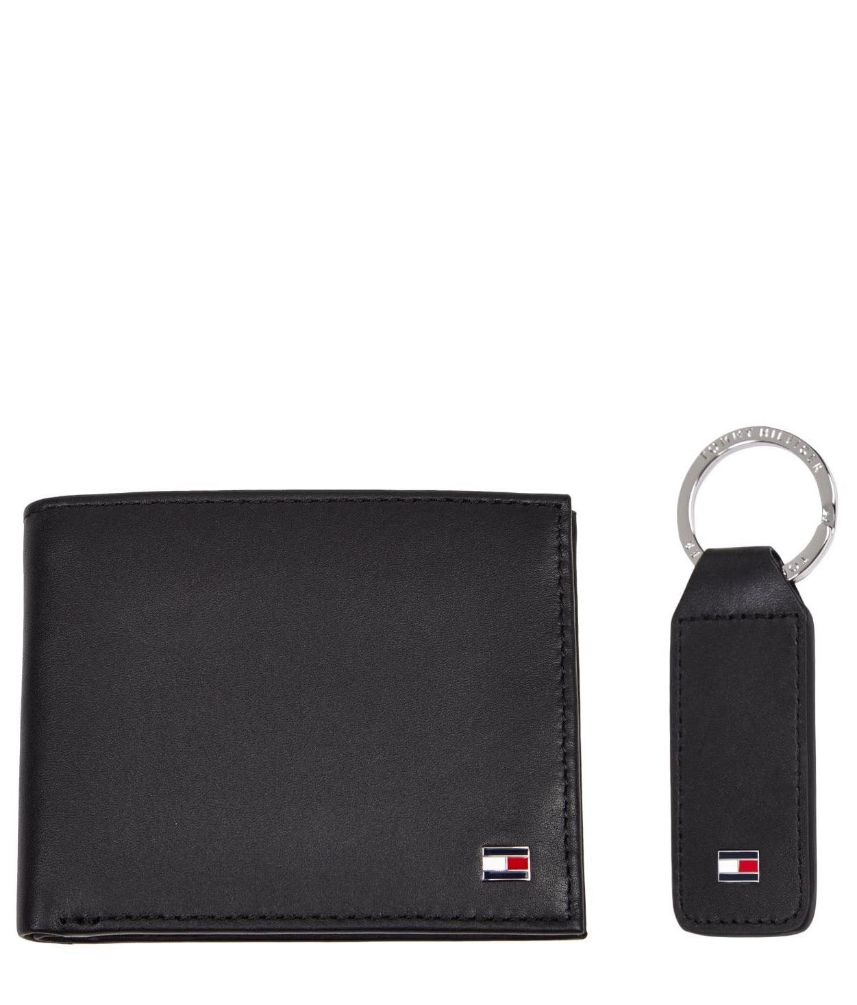 Tommy Hilfiger Cadeauset Portemonnee + Sleutelhanger, zwart