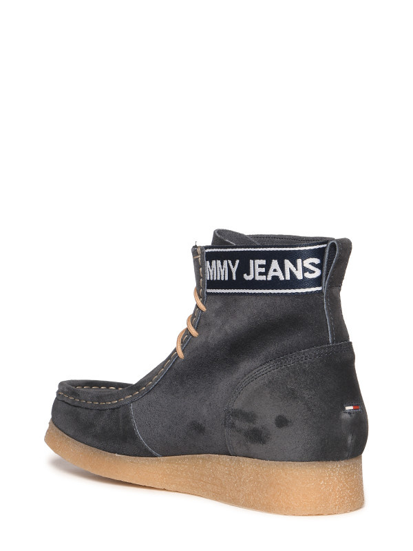 Tommy Hilfiger Jeans suède veterschoenen, blauw