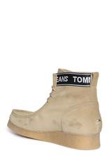 Tommy Hilfiger Jeans suède veterschoenen, beige
