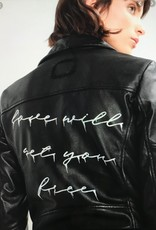 Tigha zaima love leren jas, zwart
