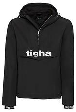 Tigha windbreaker jas, zwart