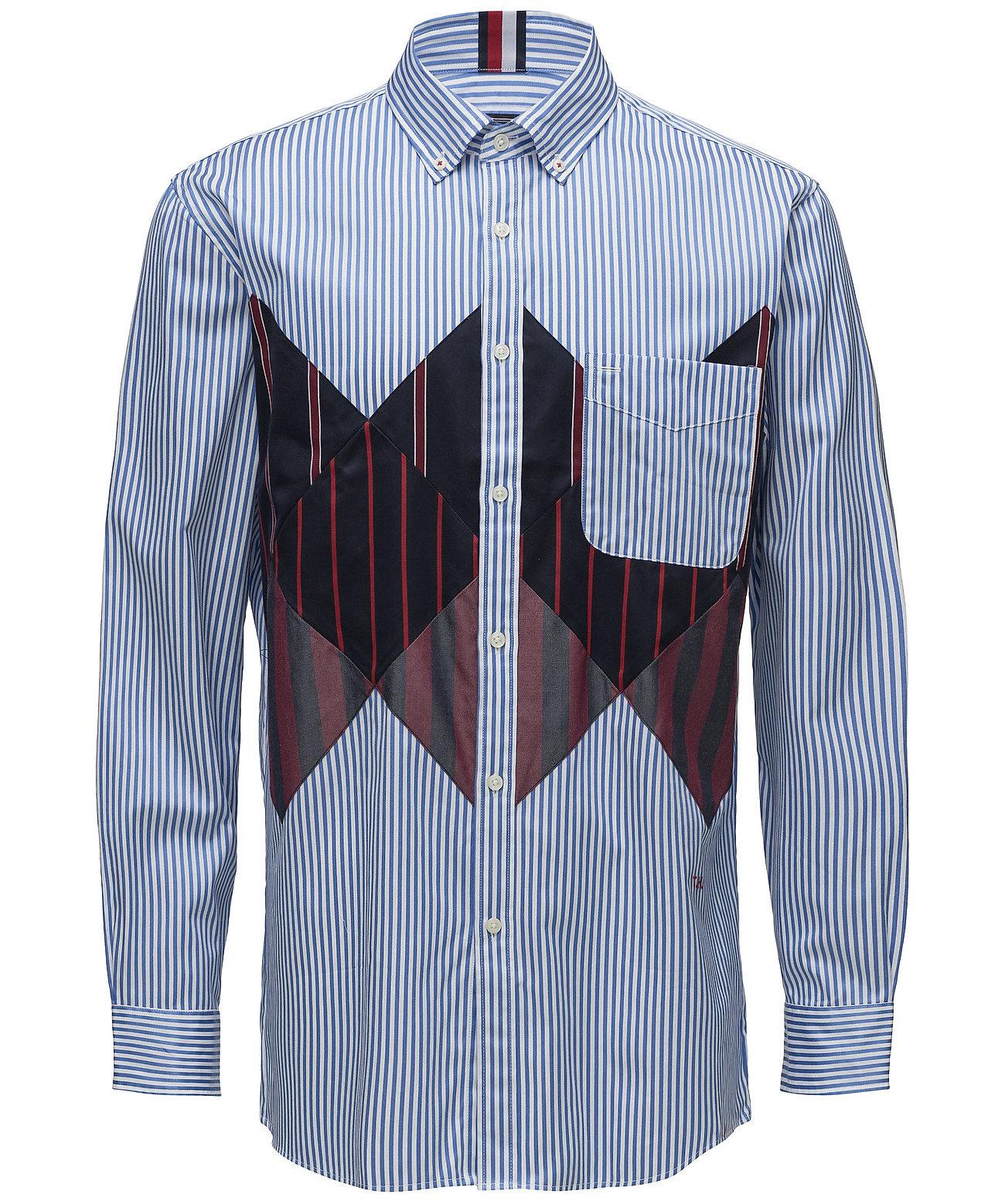 Tommy Hilfiger gestreept overhemd, blauw