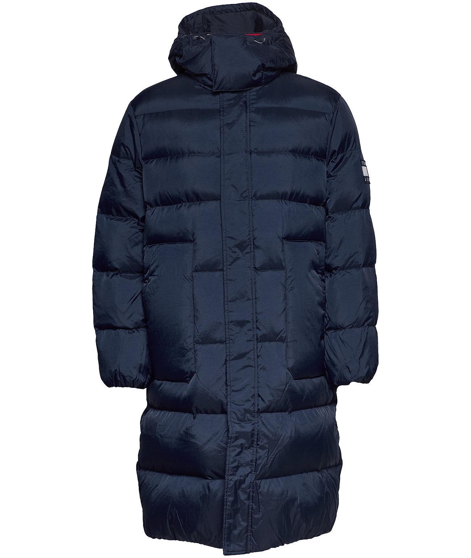 Tommy Hilfiger Lange Dons Winterjas, blauw