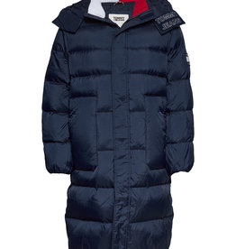 Tommy Hilfiger Long Padded Donsjas, blauw