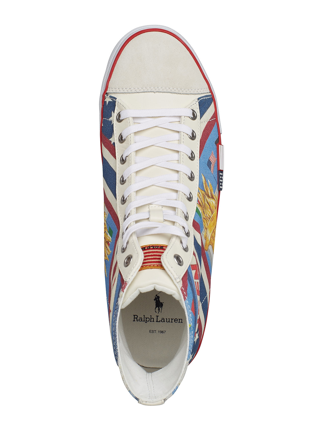 Polo Ralph Lauren Heren Solomon Sneakers, wit