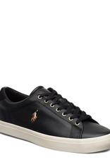 Polo Ralph Lauren leder sneakers, zwart