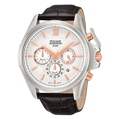 Pulsar chronograaf  Horloge, bruin