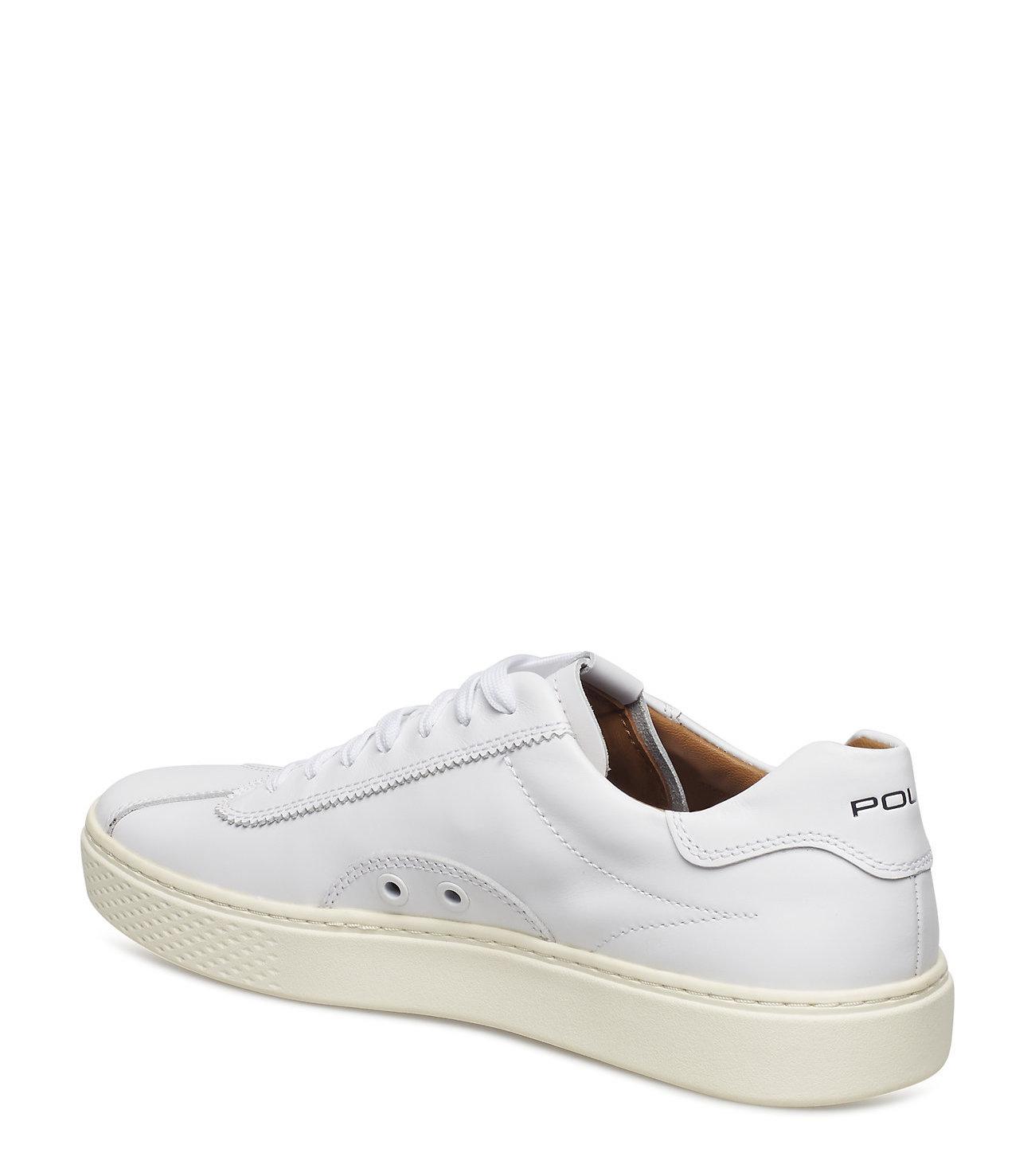 Polo Ralph Lauren leder Sneakers, wit