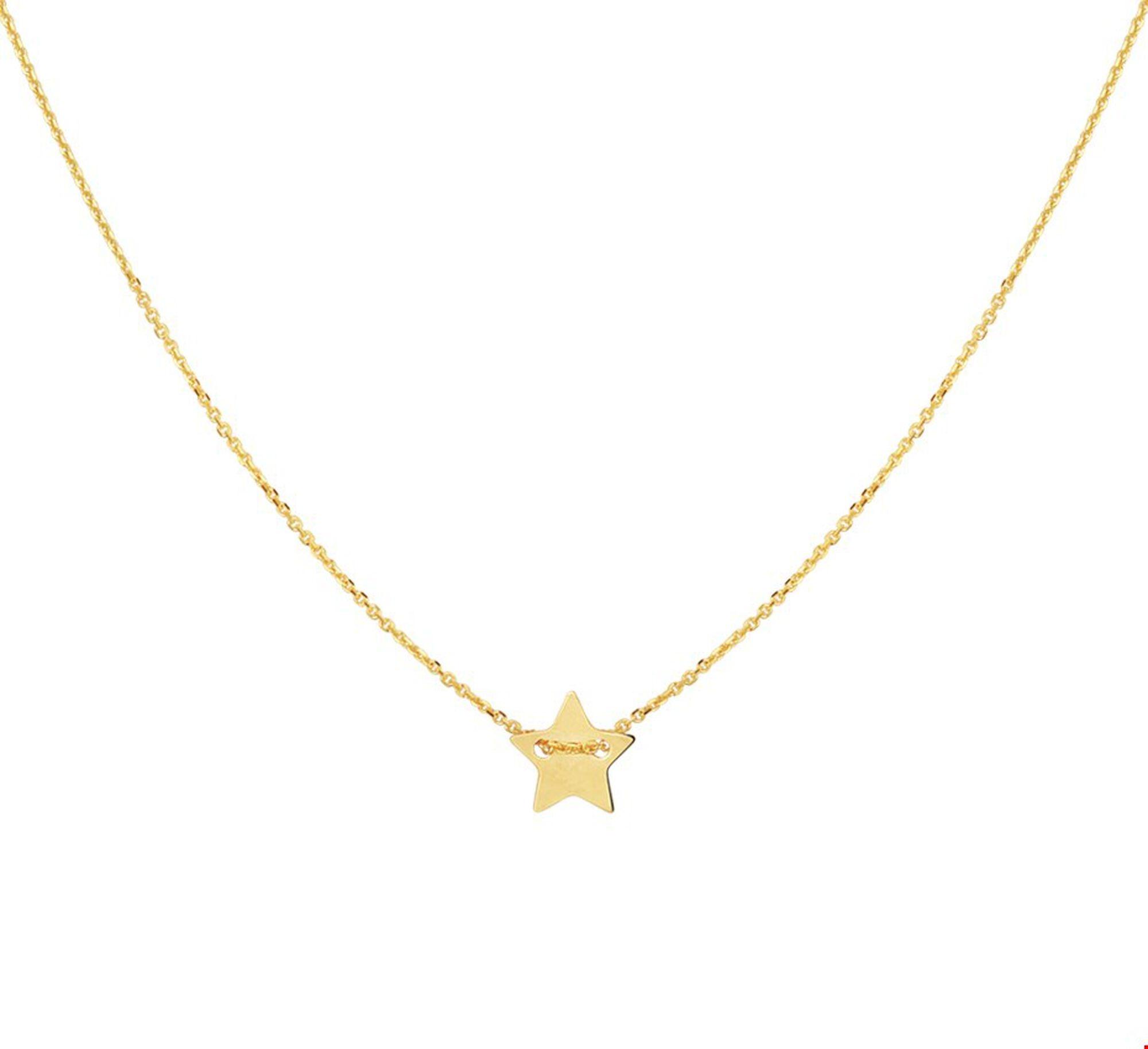 Mooie 14k gouden ketting met hanger ster