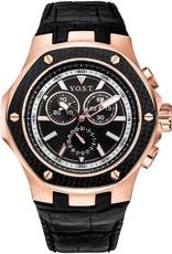Vost Germany chronograaf horloge, zwart