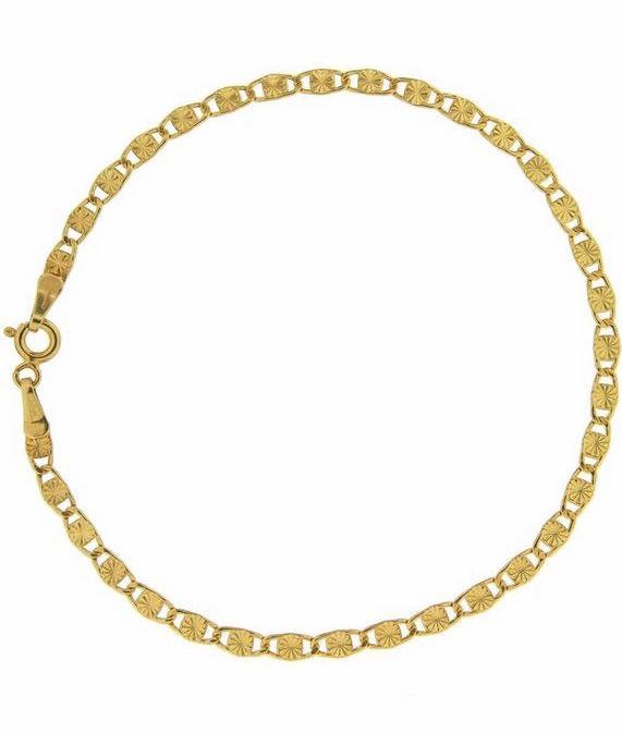 Dames gourmetschakel armband, goud