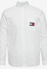 Tommy Hilfiger Denim  slim fit overhemd, wit