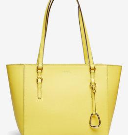 Lauren Ralph Lauren leder handtas, geel