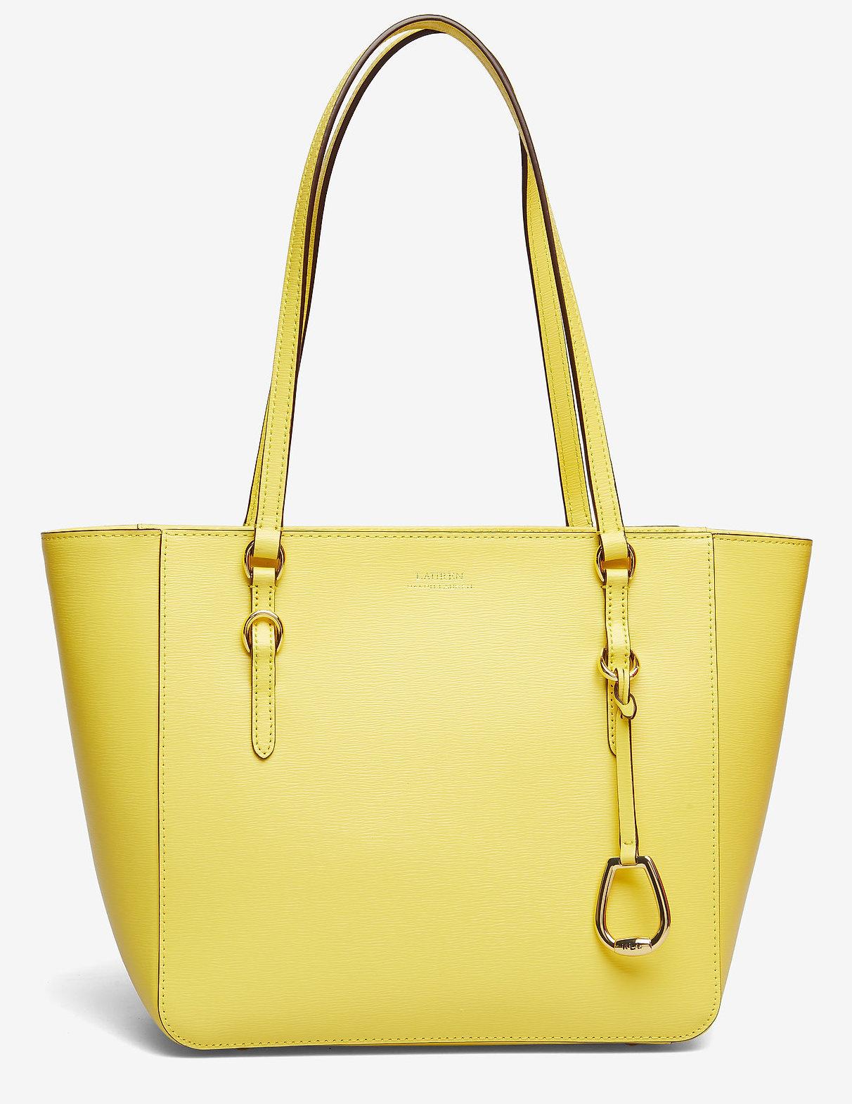 Lauren Ralph Lauren leer handtas, geel