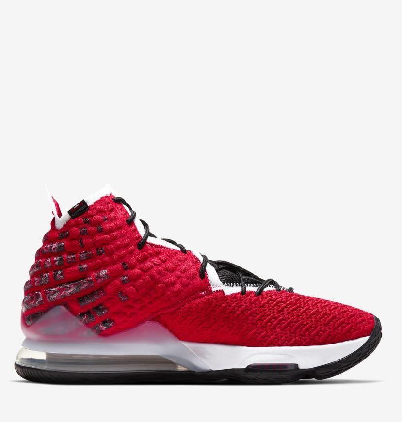 Nike LeBron 17 Heren sneakers, rood