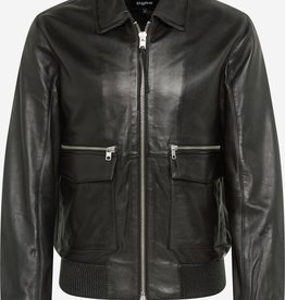 Tigha Leder jacket, zwart