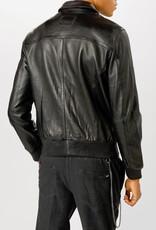 Tigha  Oxus leren jas, zwart