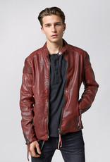 Tigha Tussenjas  leder jacket, donkerrood