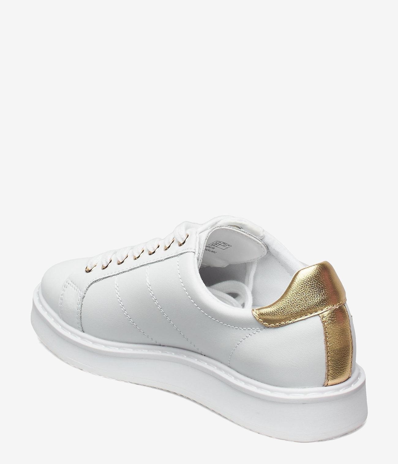 Lauren Ralph Lauren Metallic Sneakers, wit/goud
