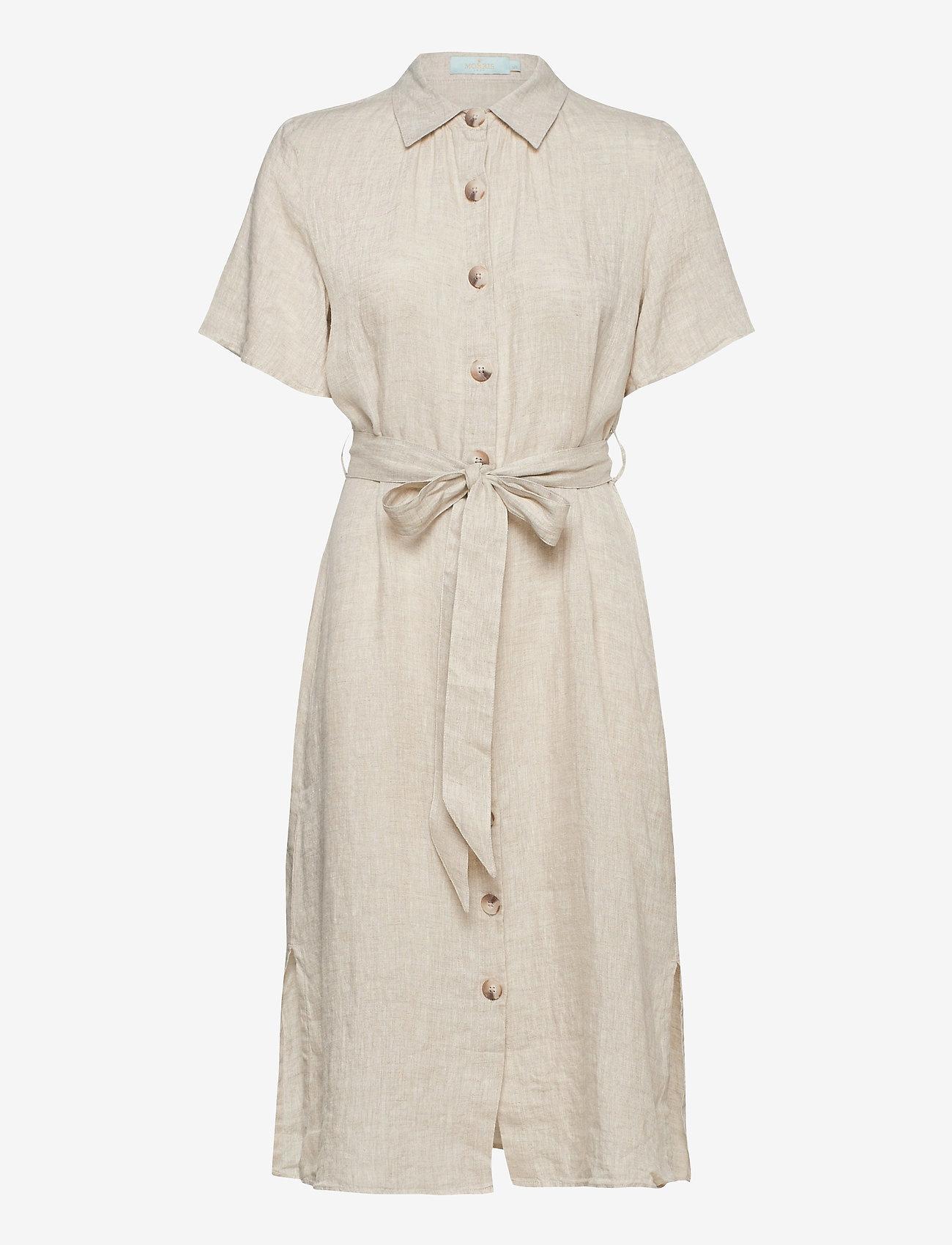 Morris Lady linen blousejurk, khaki