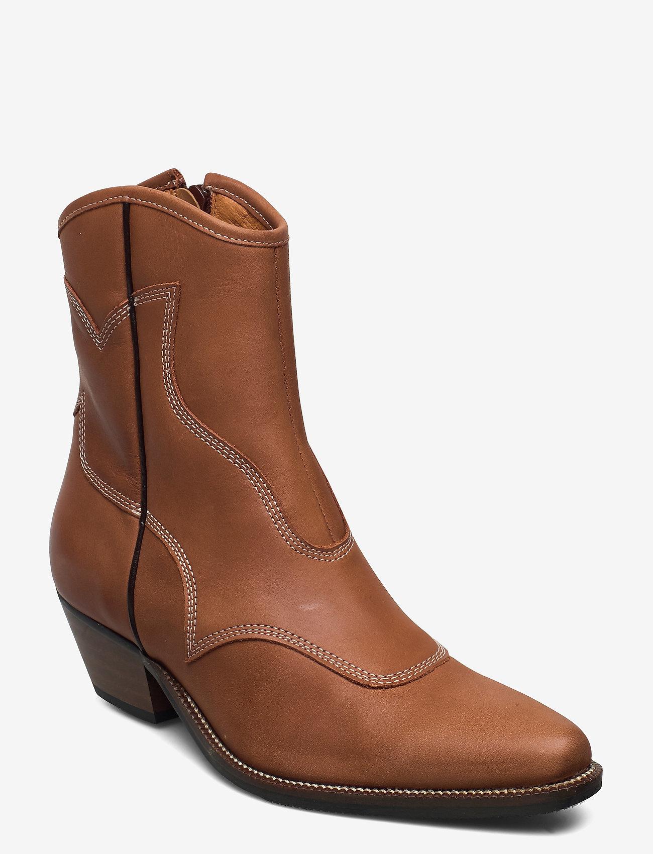 Shoe The Bear  Cowboy Enkellaarzen, bruin