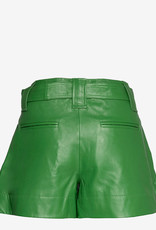Ganni Leder Short, groen