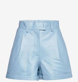 R.B.C leder short, lichtblauw