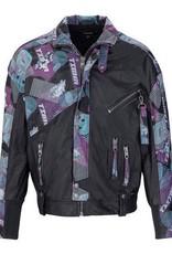 Tommy Hilfiger Tigha Racing Team leder jacket, zwart