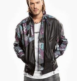 Tigha Eray leder jacket, zwart