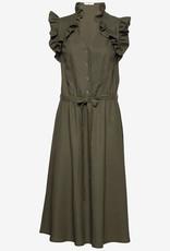 Ida Sjöstedt Dames jurk, olijfgroen