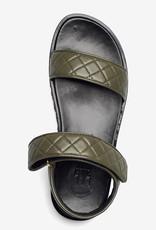 Billi Bi platte Sandalen, olijfgroen/zwart