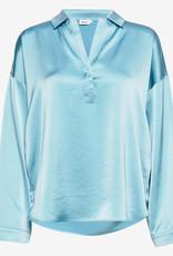 Filippa K Hayley Satin blouse, turquoise