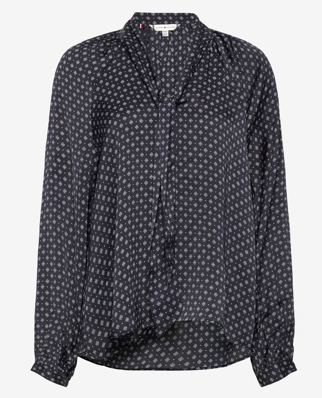 Tommy Hilfiger Satin blouse, marineblauw